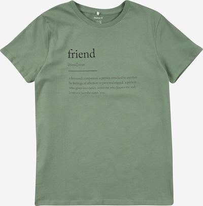 NAME IT Shirt 'TAGE ' in apfel / schwarz, Produktansicht