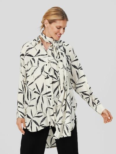 Masai Longsleeve 'Idinea' in schwarz / weiß, Modelansicht