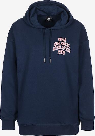 new balance Sweatshirt in navy / rot / weiß, Produktansicht