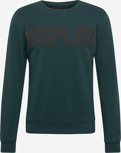 sötétzöld / fekete REPLAY Tréning póló, Termék nézet