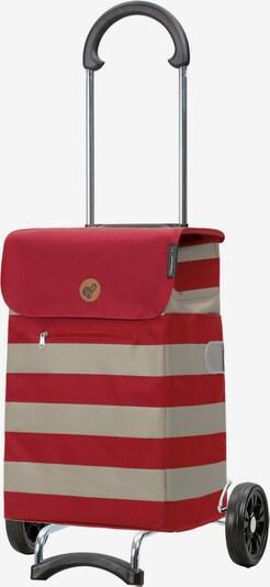 Andersen Shopper Einkaufstrolley 'Lina' in beige / rot, Produktansicht