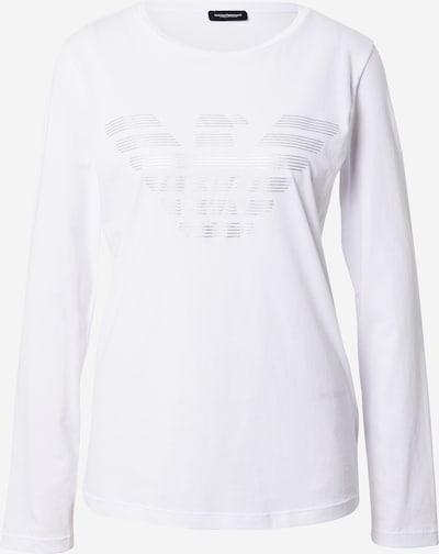 Emporio Armani Majica za spanje 'Visibility' | srebrna / off-bela barva, Prikaz izdelka