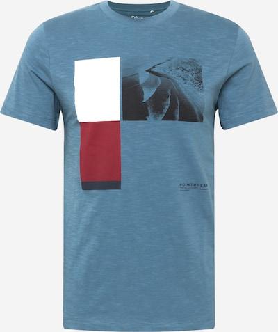 s.Oliver T-shirt i ljusblå / mörkblå / röd / vit: Sedd framifrån