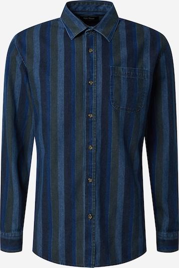 SHINE ORIGINAL Hemd in navy / nachtblau / himmelblau / oliv, Produktansicht