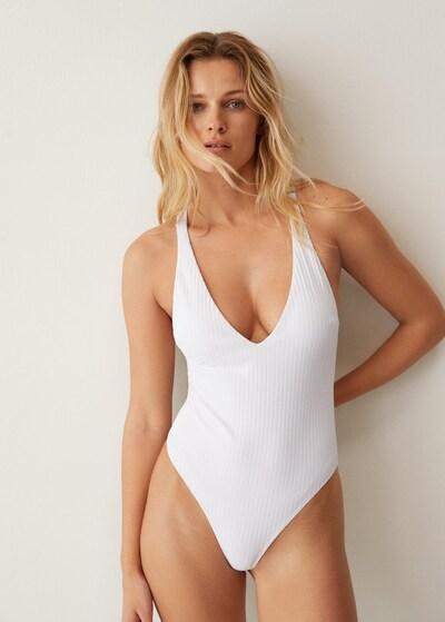 MANGO Badeanzug in weiß, Modelansicht
