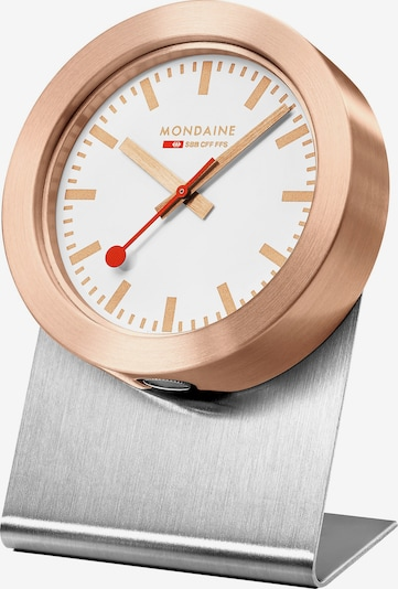 Mondaine Uhr in bronze / weiß, Produktansicht