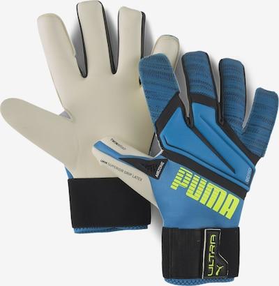 PUMA Handschuhe in beige / himmelblau / petrol / neongrün / schwarz, Produktansicht