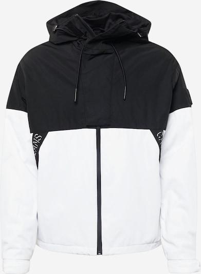 Geacă de primăvară-toamnă Calvin Klein Jeans pe negru / alb, Vizualizare produs