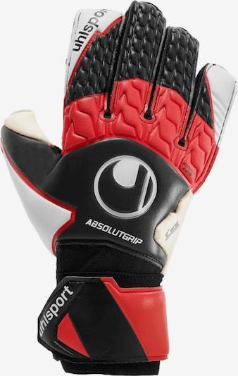 UHLSPORT Handschuh in rot / schwarz / weiß, Produktansicht
