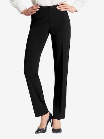 Basler Pleated Pants in Black