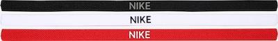 NIKE Accessoires Bandeau de sport en gris clair / rouge / noir / blanc, Vue avec produit