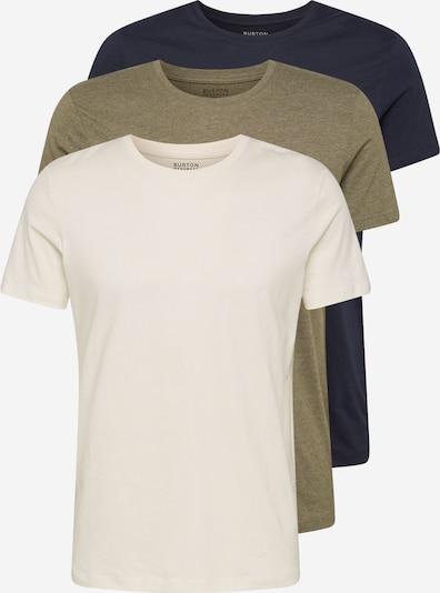 BURTON MENSWEAR LONDON Camiseta en beige / navy / verde, Vista del producto