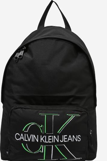 Calvin Klein Jeans Batoh 'Campus' - kiwi / čierna / biela, Produkt