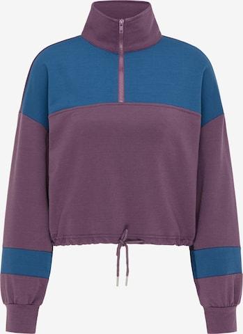 myMo ATHLSR Athletic Sweatshirt in Purple