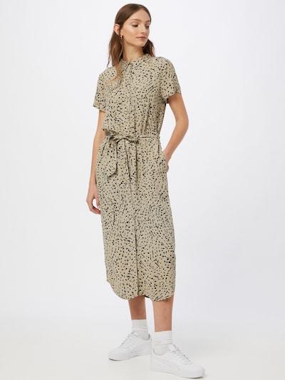 ICHI Kleid in beige / schwarz, Modelansicht