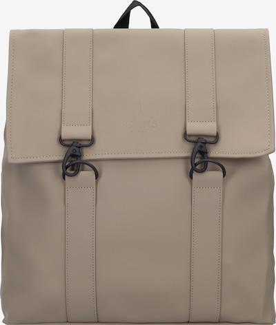RAINS Rucksack 'MSN Bag' in taupe / schwarz, Produktansicht