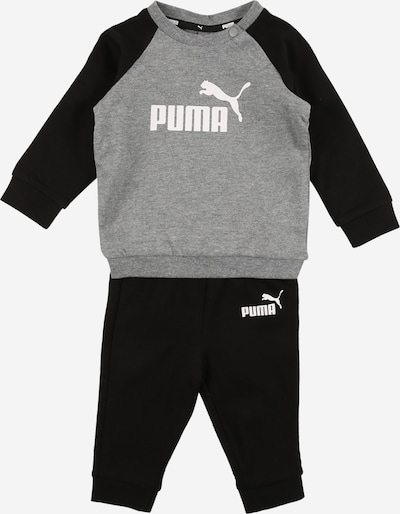 PUMA Jogginganzug 'Minicats' in grau / schwarz / weiß, Produktansicht