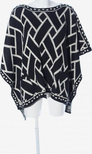 Sweet Miss Poncho in XS-XL in schwarz / wollweiß, Produktansicht