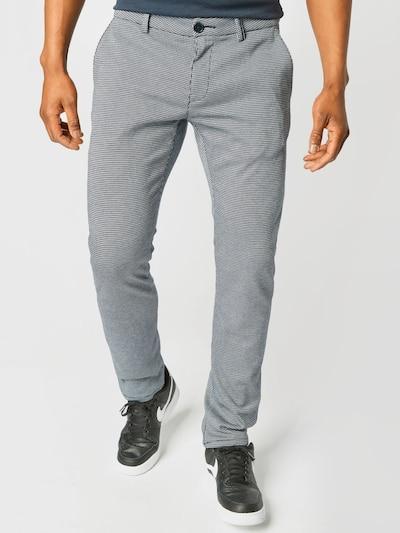 TOM TAILOR Chino kalhoty 'Travis' - noční modrá / bílá, Model/ka