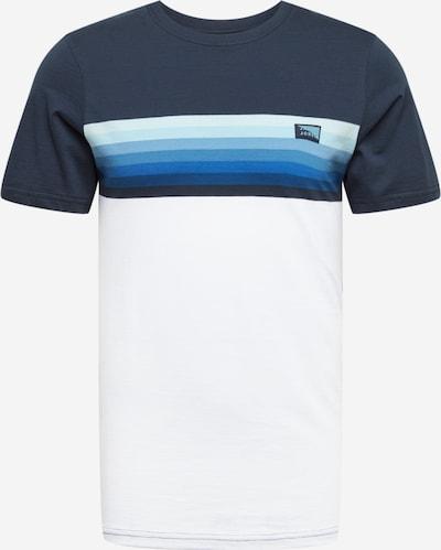 JACK & JONES Shirt 'JCOMIRKU' in de kleur Blauw / Wit, Productweergave