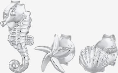 ELLI Ohrringe Muschel, Seepferdchen in silber, Produktansicht