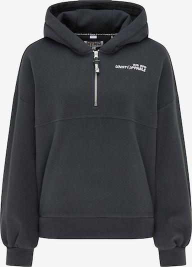 myMo ATHLSR Sweatshirt in ultramarinblau / weiß, Produktansicht