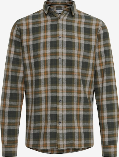 !Solid Button Up Shirt 'Terkil' in Cognac / Olive / Dark green / White, Item view