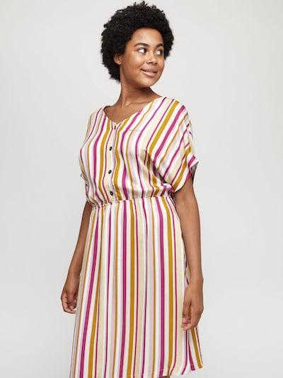 mazine Dress ' Marial ' in khaki / pink, Modelansicht