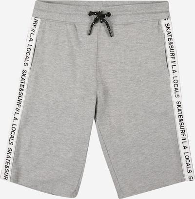 OVS Broek in de kleur Lichtgrijs / Zwart / Wit, Productweergave