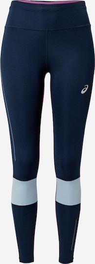 ASICS Pantalon de sport 'VISIBILITY' en bleu clair / bleu foncé / mauve, Vue avec produit