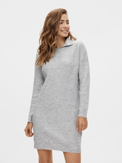 PIECES Knitted dress 'Petra' in mottled grey, View model