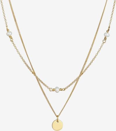 ELLI Halskette Geo, Layer, Perle in gold, Produktansicht