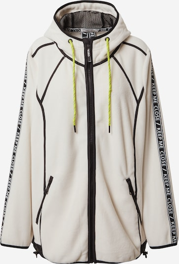 CECIL Sudadera con cremallera en negro / blanco, Vista del producto