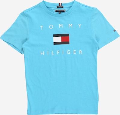 TOMMY HILFIGER Majica | mornarska / svetlo modra / rdeča / bela barva: Frontalni pogled