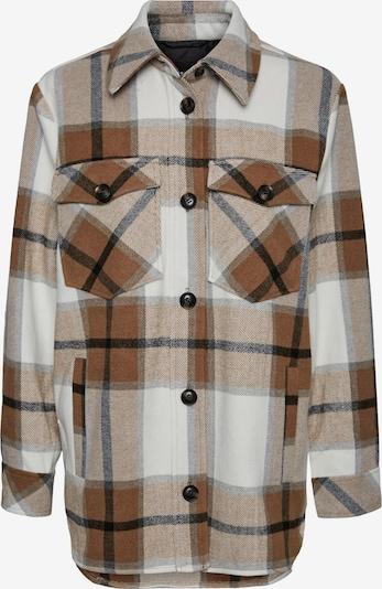 Vero Moda Curve Prehodna jakna 'Olivia' | rjava / svetlo rjava / črna / off-bela barva, Prikaz izdelka