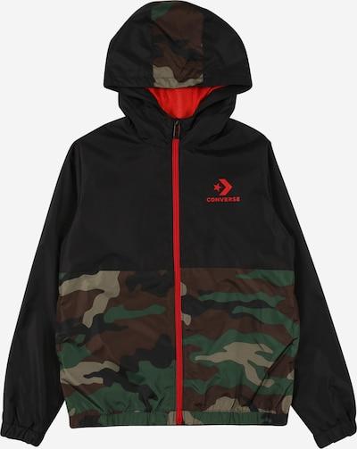 CONVERSE Jacke in khaki / oliv / grasgrün / schwarz, Produktansicht