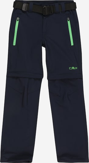 CMP Outdoorové nohavice - tmavomodrá / neónovo zelená, Produkt