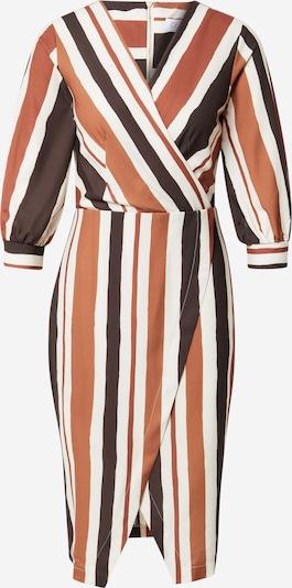 Closet London Robe en marron / noir / blanc, Vue avec produit