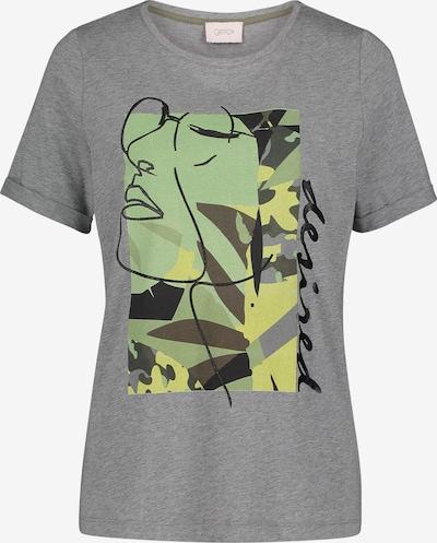 Cartoon Printshirt mit Aufdruck in grau / khaki, Produktansicht
