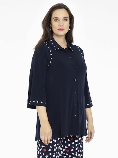 Yoek Blouse ' Dolce ' in Dark blue, View model