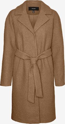 VERO MODA Between-Seasons Coat 'Twirlisia' in Brown