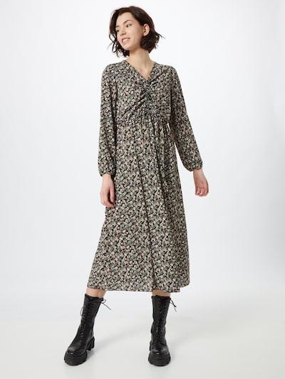 Sublevel Kleid in beige / grün / schwarz, Modelansicht
