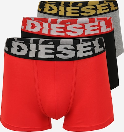 Boxeri DIESEL pe galben auriu / gri amestecat / roșu deschis / negru, Vizualizare produs