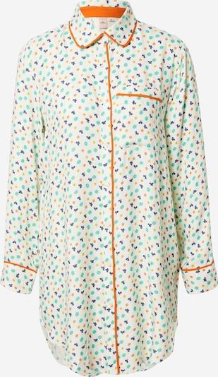 BeckSöndergaard Spavaćica košulja 'Kiona' u tirkiz / tamno plava / žuta / narančasta / bijela, Pregled proizvoda