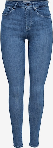 ONLY Jeans 'ONLPower Mid Push Up Skinny Fit' in Blau