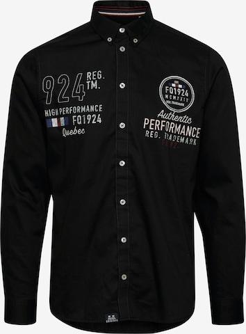 FQ1924 Langarmhemd in Schwarz