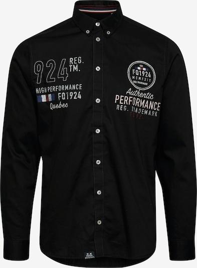 FQ1924 Langarmhemd in schwarz, Produktansicht