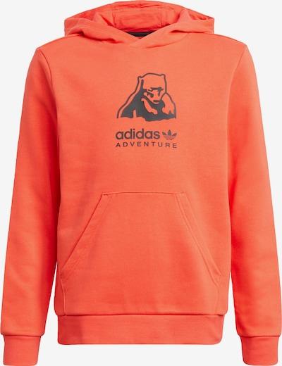 ADIDAS ORIGINALS Sweatshirt 'Adventure' in orangerot / schwarz, Produktansicht