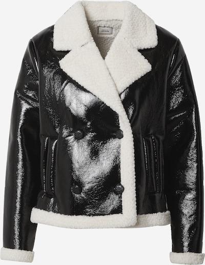 Pimkie Zimska jakna 'JSVINYL' u crna / bijela, Pregled proizvoda