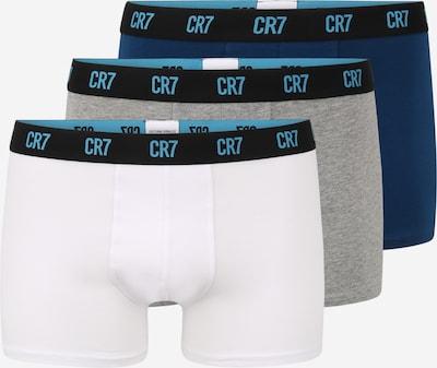 CR7 - Cristiano Ronaldo Boxers en marine / gris chiné / noir / blanc, Vue avec produit